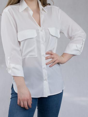 Biała, damska luźna koszula Sophie