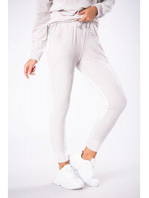 dresowe spodnie z weluru szary
