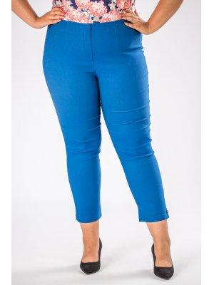 spodnie cygaretki z gumką w pasie niebieski