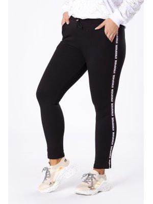 spodnie dresowe z lampasami czarny
