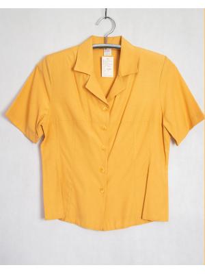 OUTLET KOSZULA bluzka koszulowa krótki rękaw kolor miodowy